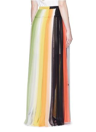 背面 - 点击放大 - CHLOÉ - 彩虹拼色百褶真丝半身裙