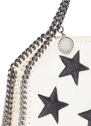 Detail View - Click To Enlarge - Stella McCartney - 'Falabella' tiny star appliqué crossbody chain tote