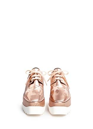 正面 -点击放大 - STELLA MCCARTNEY - 星星拼贴坡跟系带鞋