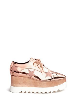 首图 - 点击放大 - STELLA MCCARTNEY - 星星拼贴坡跟系带鞋