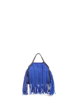 Back View - Click To Enlarge - Stella McCartney - 'Falabella' tiny fringe crossbody chain tote