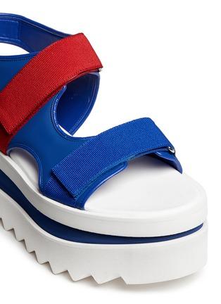 Detail View - Click To Enlarge - Stella McCartney - Colourblock strap platform sandals