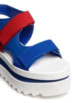 Colourblock strap platform sandals