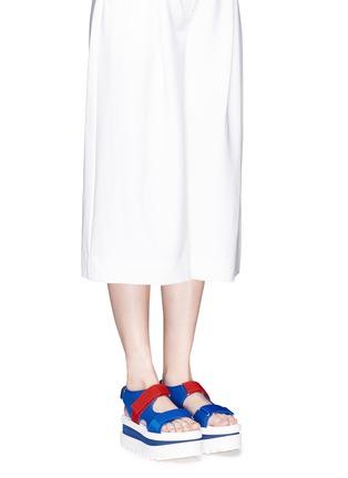Figure View - Click To Enlarge - Stella McCartney - Colourblock strap platform sandals