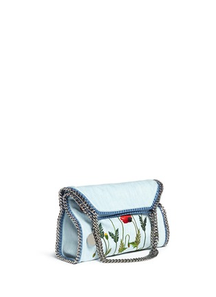 Front View - Click To Enlarge - Stella McCartney - 'Falabella' small poppy denim chain tote