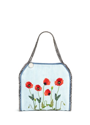 Main View - Click To Enlarge - Stella McCartney - 'Falabella' small poppy denim chain tote