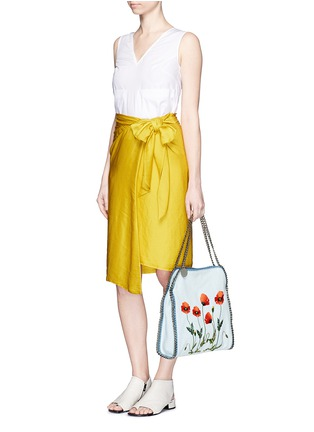 Figure View - Click To Enlarge - Stella McCartney - 'Falabella' small poppy denim chain tote