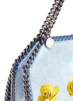 'Falabella' mini botanical denim chain tote