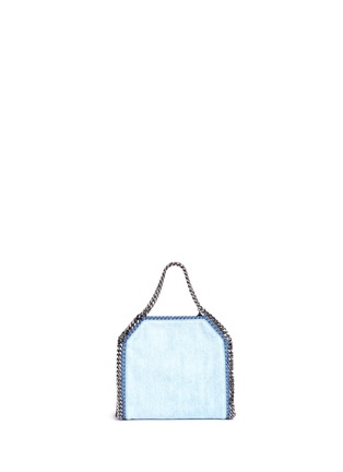 Back View - Click To Enlarge - Stella McCartney - 'Falabella' mini botanical denim chain tote