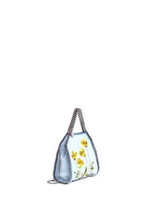 Front View - Click To Enlarge - Stella McCartney - 'Falabella' mini botanical denim chain tote