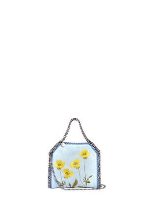 Stella McCartney - 'Falabella' mini botanical denim chain tote