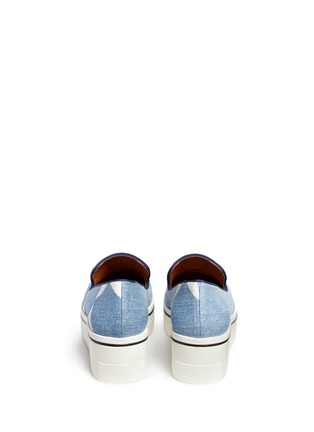 Stella McCartney - Star print denim platform slip-ons
