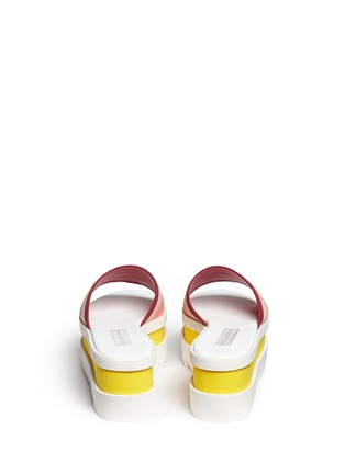 Back View - Click To Enlarge - Stella McCartney - Stripe band slide platform sandals