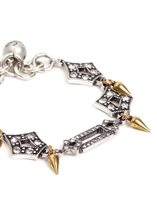 Detail View - Click To Enlarge - Lulu Frost - 'Symmetry' glass crystal pavé cutout charm bracelet