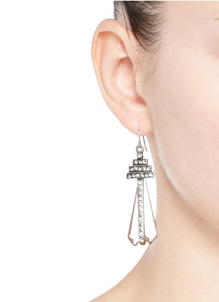 Lulu Frost - 'Crystaline' glass crystal pavé drop earrings