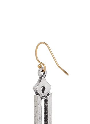 Detail View - Click To Enlarge - Lulu Frost - 'Symmetry' glass crystal pavé cutout charm drop earrings