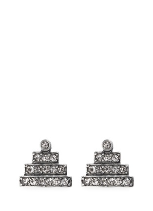Main View - Click To Enlarge - Lulu Frost - 'Crystaline' glass crystal pavé pyramid stud earrings