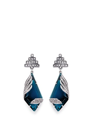 Main View - Click To Enlarge - Lulu Frost - 'Reflection' pavé Montana glass crystal drop earrings
