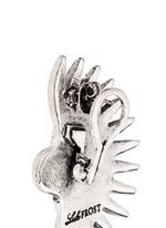 'Beacon' glass crystal pavé fan stud earrings