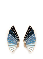 'Horizon' ombré enamel fan stud earrings