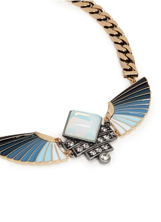 Detail View - Click To Enlarge - Lulu Frost - 'Horizon' opal ombré wing necklace