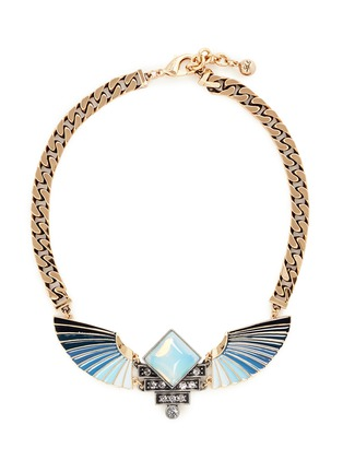 Main View - Click To Enlarge - Lulu Frost - 'Horizon' opal ombré wing necklace