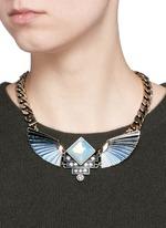'Horizon' opal ombré wing necklace