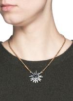 重叠星星仿水晶项链