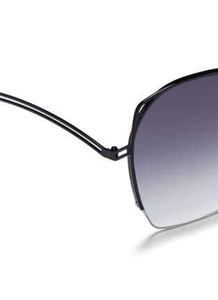 细节 - 点击放大 - VICTORIA BECKHAM - FINE WAVE金属半框太阳眼镜