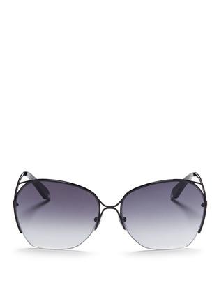 首图 - 点击放大 - VICTORIA BECKHAM - FINE WAVE金属半框太阳眼镜