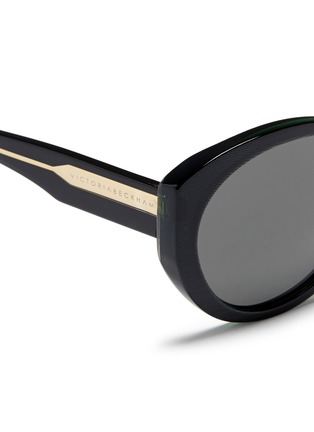 Detail View - Click To Enlarge - Victoria Beckham - 'Upswept Oval' acetate sunglasses