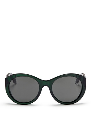 Main View - Click To Enlarge - Victoria Beckham - 'Upswept Oval' acetate sunglasses