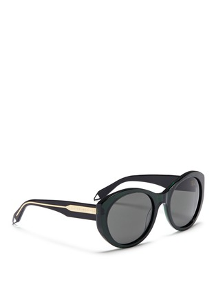 Figure View - Click To Enlarge - Victoria Beckham - 'Upswept Oval' acetate sunglasses