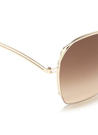 Victoria Beckham-'Fine Wave' cutout metal temple sunglasses