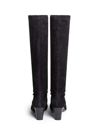 Back View - Click To Enlarge - Robert Clergerie - 'Passac J' stretch suede knee high boots