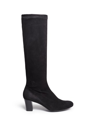 Main View - Click To Enlarge - Robert Clergerie - 'Passac J' stretch suede knee high boots