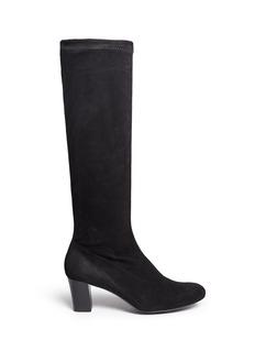 Robert Clergerie'Passac J' stretch suede knee high boots