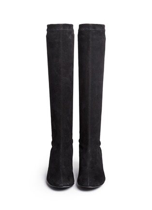 Figure View - Click To Enlarge - Robert Clergerie - 'Passac J' stretch suede knee high boots
