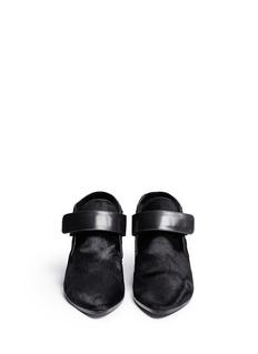 ROBERT CLERGERIE'Sonyap' Velcro strap calf hair booties