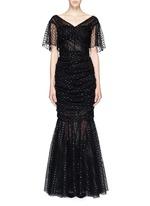 Macramé mesh lace mermaid hem gown