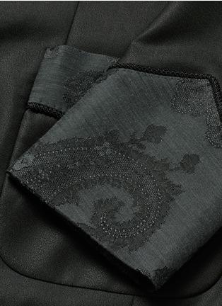 Dolce & Gabbana-Lace jacquard wool-silk tuxedo blazer