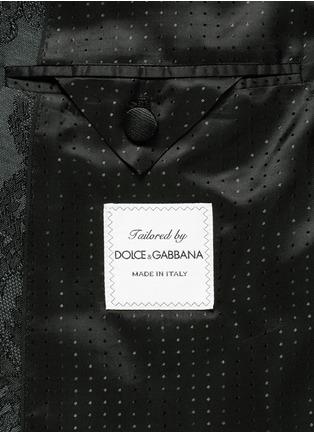 - Dolce & Gabbana - Lace jacquard wool-silk tuxedo blazer