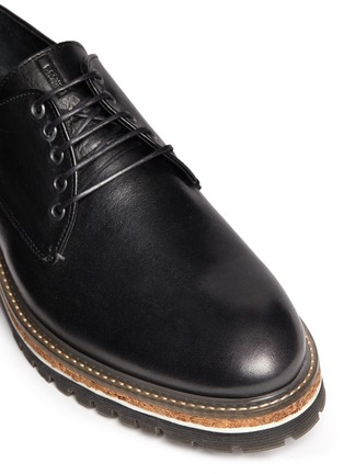 Detail View - Click To Enlarge - Armani Collezioni - Five eyelet leather Derbies