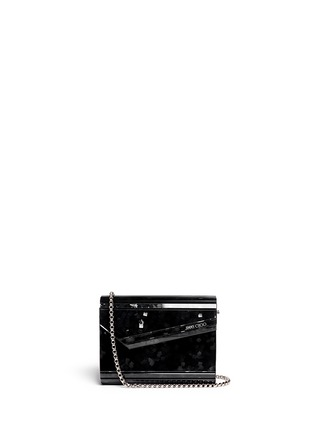 Main View - Click To Enlarge - Jimmy Choo - 'Candy' confetti acetate square clutch