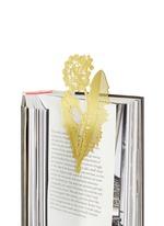 Tool the Bookworm dandelion bookmark