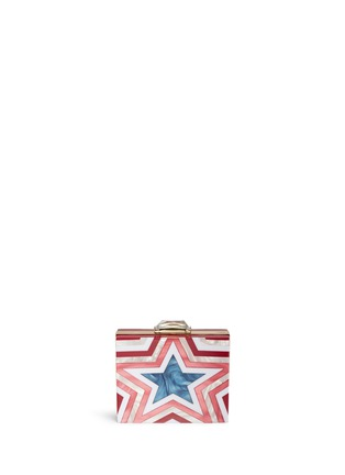 Back View - Click To Enlarge - KOTUR - 'Taylor Star' pearlescent acrylic square clutch