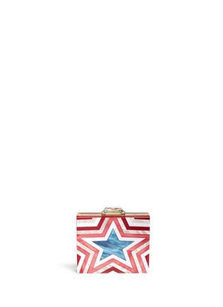 Main View - Click To Enlarge - KOTUR - 'Taylor Star' pearlescent acrylic square clutch