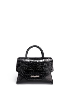 GIVENCHY New Obsedia small croc-embossed leather tote