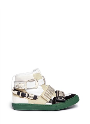 TOGA ARCHIVES - Metal hardware suede leather sneakers