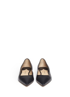 PAUL ANDREW 'Zoya' wavy leather flats